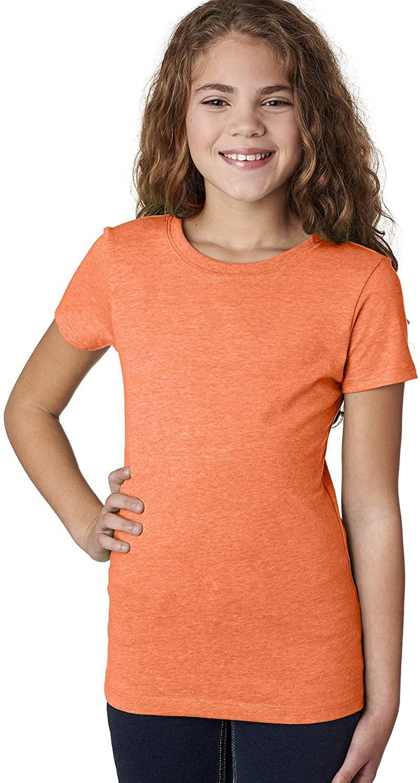 Next Level The Princess Supersoft CVC Jersey T-Shirt, Neon Hthr Orange, Medium