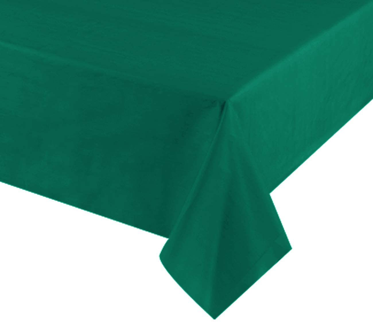 Plastic Tablecloths for Rectangle Tables, 12 Pack – Heavy Duty Party Table Cloths Disposable, Rectangular Table Covers, 54 x 108, Color-(Hunter Green)