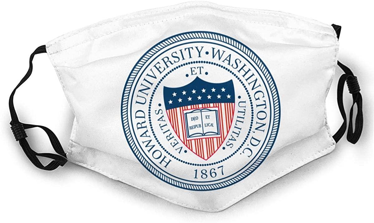 Howard University Unisex Adjustable Anti Dust Face Mask.Double Sided Reusable Mouth Mask