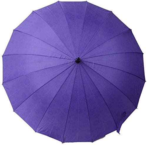 ASDF Stick Umbrellas Golf Umbrellas Straight Umbrella 16 Bone Straight Umbrella Black Rainbow Umbrella Long Handle Umbrella