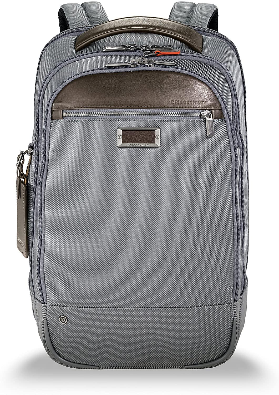 Briggs & Riley @ Work-Medium Backpack, Gray, Standard