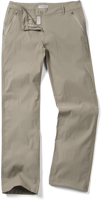 Craghoppers Women's NAT Geo Kiwi Pro Trousers, Mushroom, US 14/UK 18