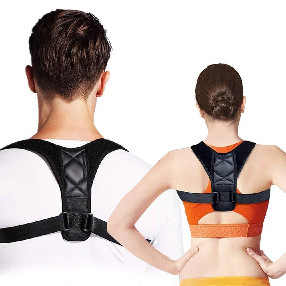 Posture Corrector, Back Straightener Brace for Men and Women for Adjustable Bodywellness Posture Correction Shoulder Neck Pain Relief, One Size