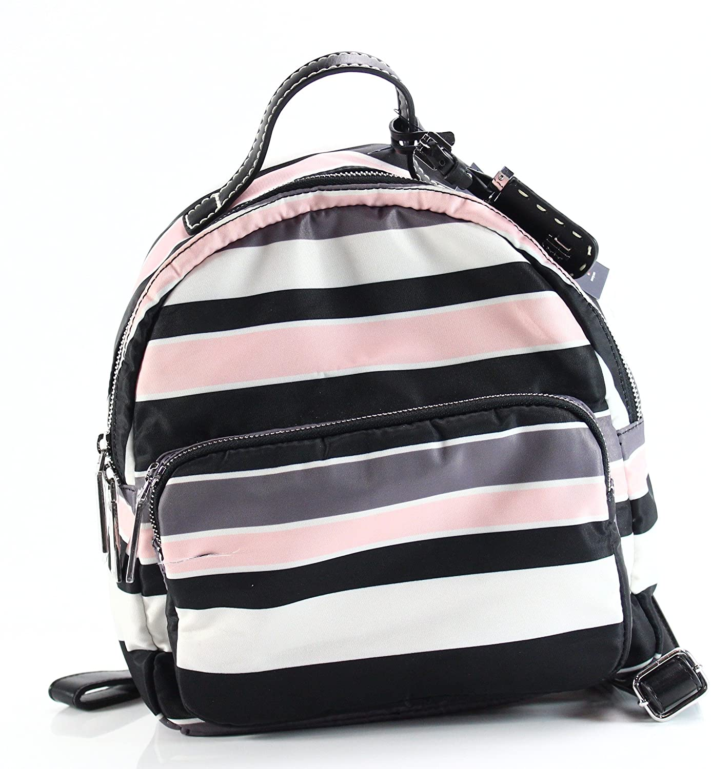 Tommy Hilfiger Julia Dome Backpack Nylon Victory Stripe Black/Pink One Size