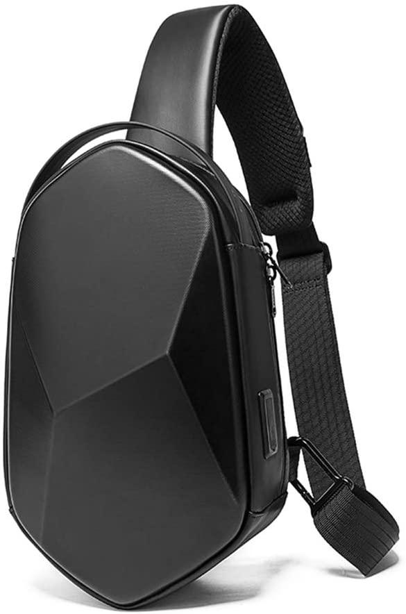 OZUKO Crossbody Sling Backpack Sling Bag Waterproof Chest Shoulder Bag Travel Hiking Daypacks (Black)