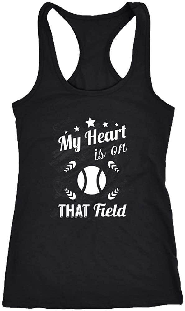 Baseball Racerback Tank Top T-Shirt. Funny Baseball Tank. Cool Shirt for Baseball (L)