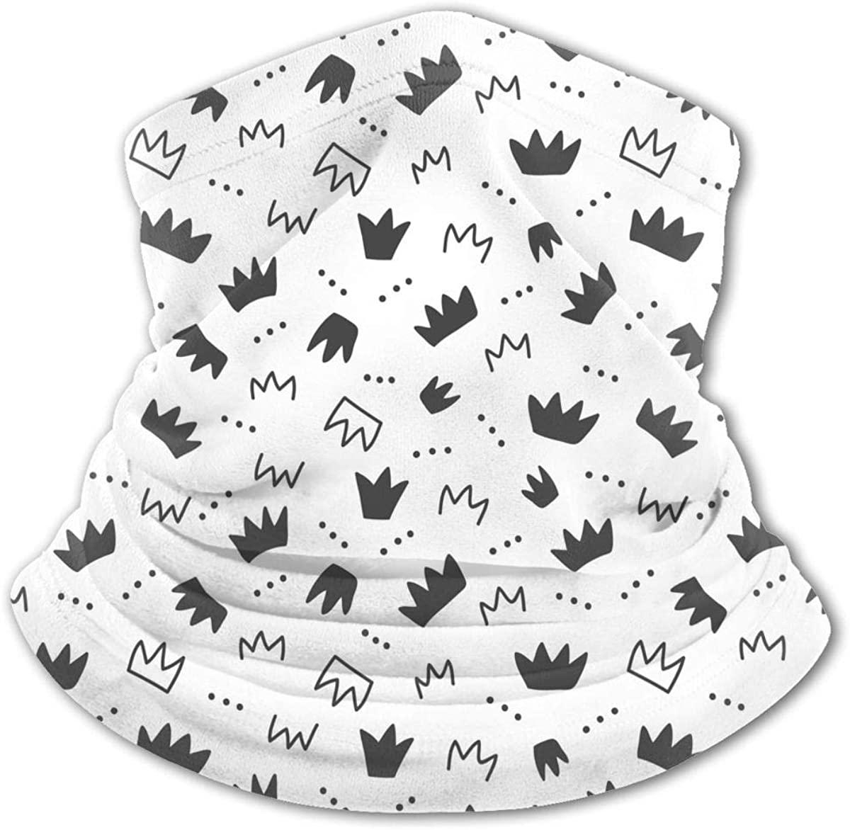 Hand Drawn Crowns Neck Gaiter Balaclava Bandana Headwear Cooling Scarf Variety Face Towel