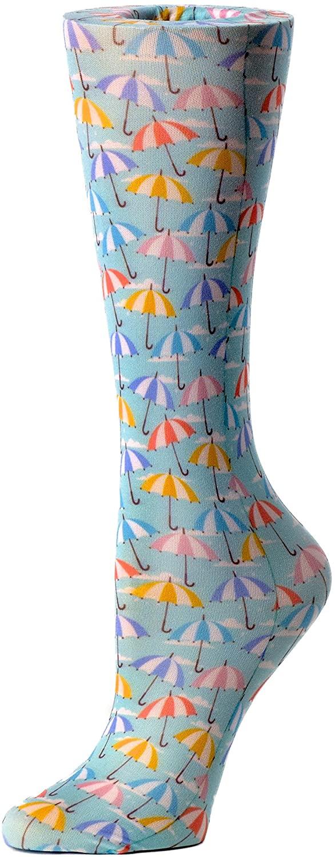 Cutieful Therapeutic Graduated 8-15 mmHg Compression Socks - Striped Umbrellas