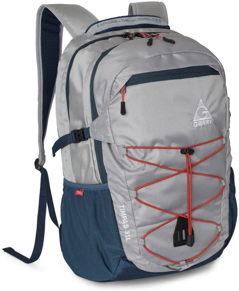 Gerry Outdoor - Timpas Multi Compartment Backpack Water Resistant, Shark