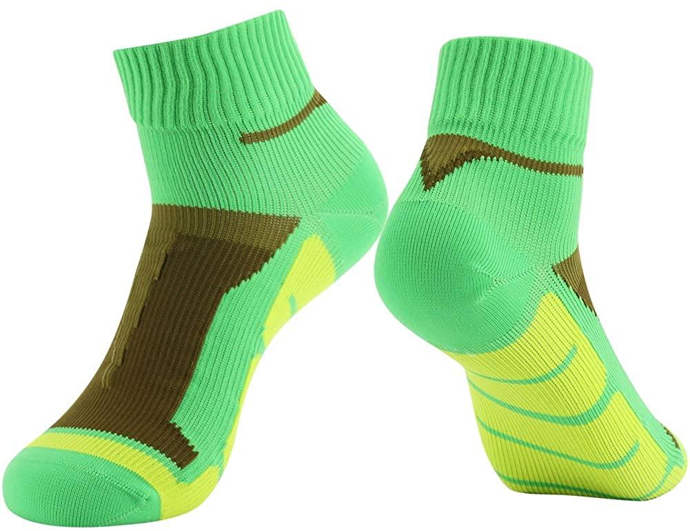 100% Waterproof Running Socks, RANDY SUN Unisex Mid-Calf/Ankle Sock XS-L