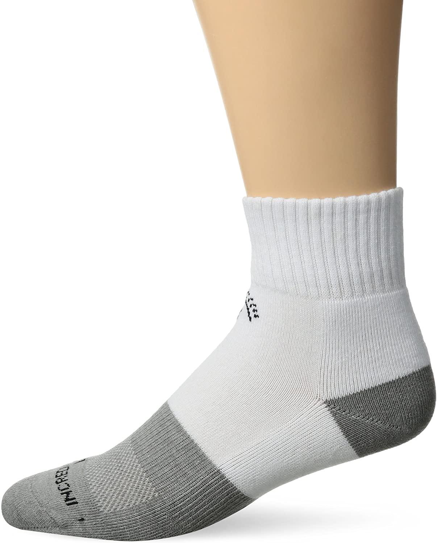 Incrediwear Quarter Active Socks, White, Medium, 0.03 Pound