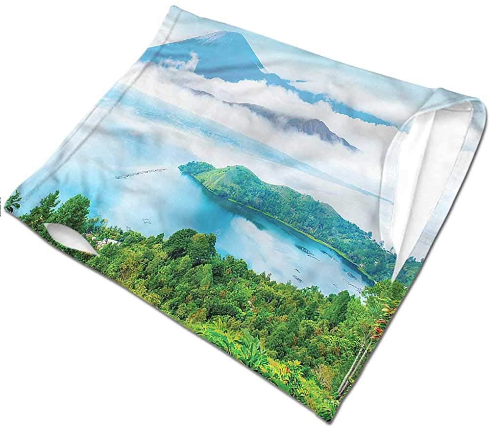 Neck Gaiter Landscape,Northern Nature Volcano 12 in 1 Multifunctional Headwear