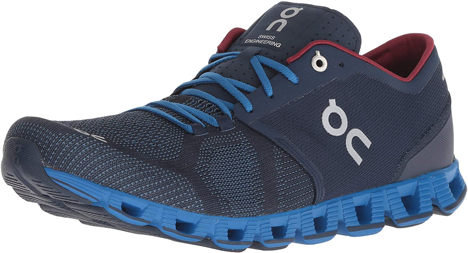 on Running Mens Cloud X Road Shoes Midnight/Cobalt SZ 10