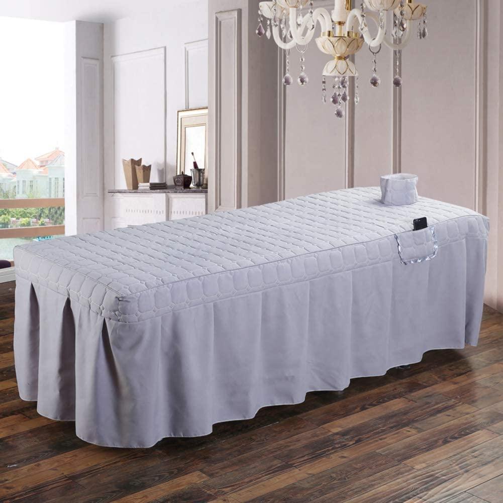 AMY Premium Massage Table Sheet Sets, Massage Table Skirt Spa Bed Cover Linen Valance Sheet Custom Made Salon-P 190x80cm(75x31inch)
