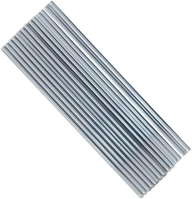 Aluminium Magnesium Low Temperature Welding Brazing Rods,50X0.16cm-50PCS flux-cored tin bar for low temperature aluminium welding wire (50PCS, Silver)