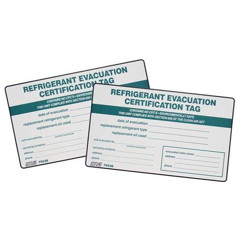 MARS Refrigerant I.D. Labels, Pack of (2)