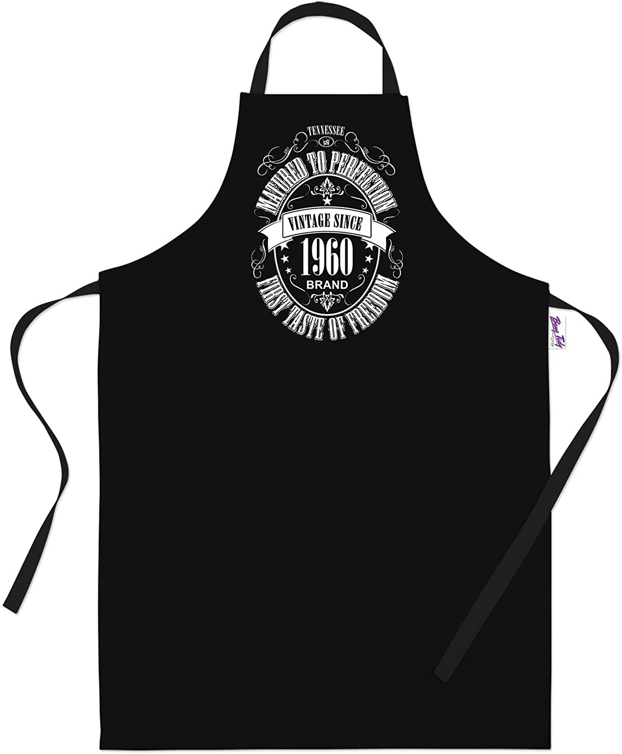 60th Birthday Gifts for Men Him Dad Husband BBQ Cooking Apron Matured 1960