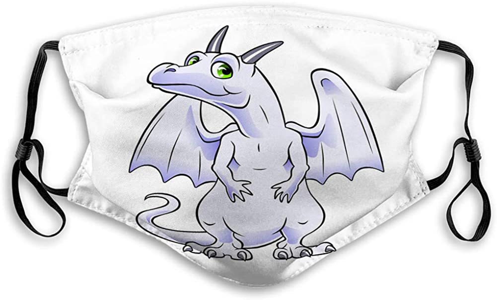 Washable and Reusable Face Shield White Dragon Adjustable Covers