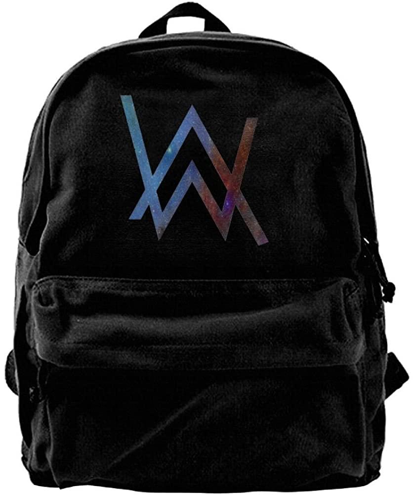 Edward Beck Canvas Backpack Wild Kratts Logo New Trend Style Black