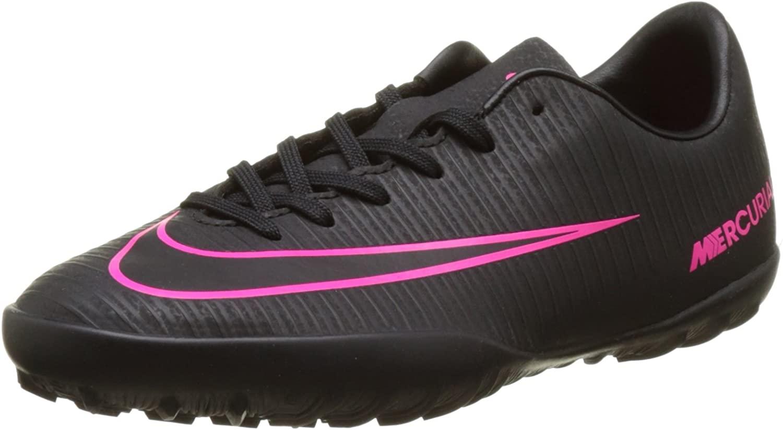 Nike Kids MercurialX Vapor XI Turf Black/Black/Pink Blast Shoes - 2.5Y