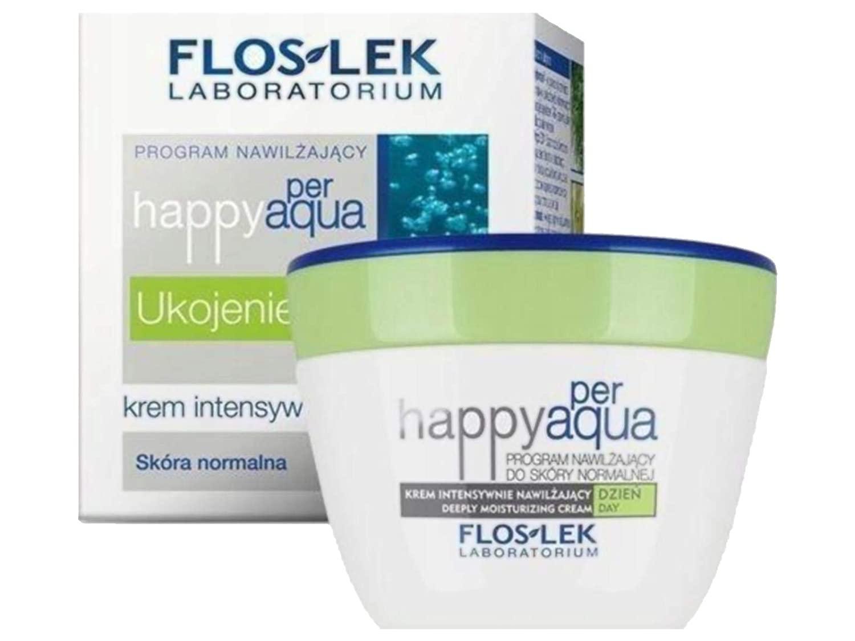 FlosLek Deeply Moisturizing Face Cream Happy Per Aqua Day Cream for Normal Skin - 50 ml