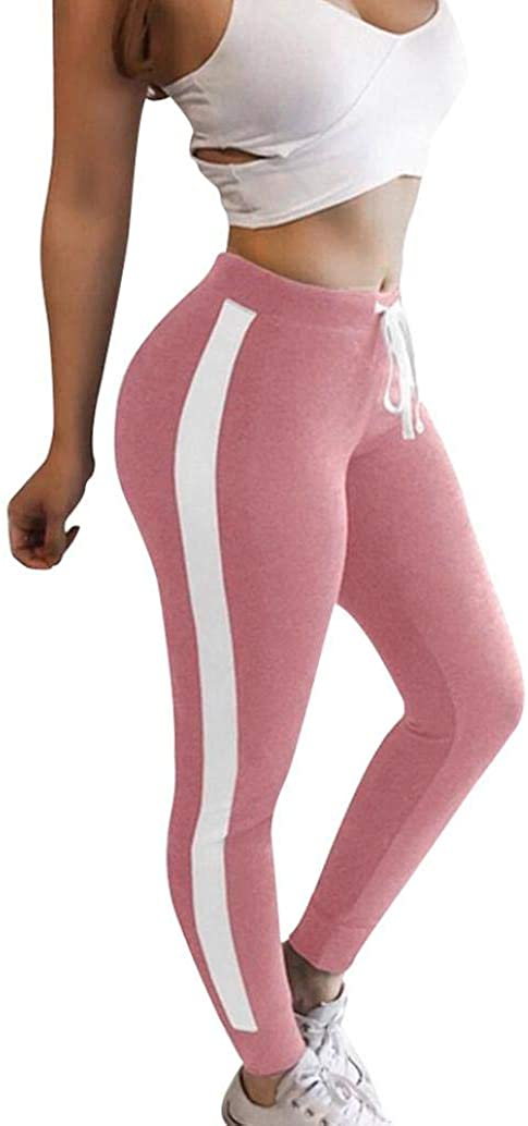 kingfansion Women's Trousers Casual Sports Yoga Exercise Gym Fitness Tights Jogging