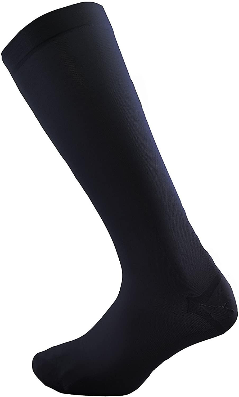 Compression Socks - Big and Tall Mens Dress Casual (1 pair) - (15-20 mmHg) Graduated - Sock Size 13-16