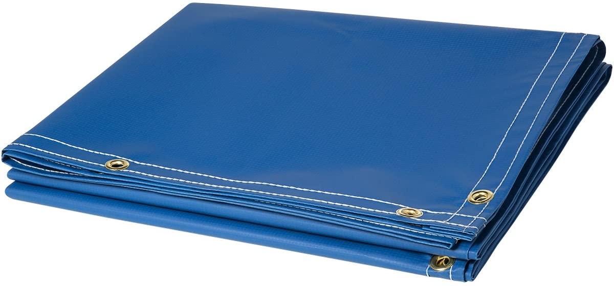 Steiner 335-6X10 13-Ounce Flame Retardant Opaque Vinyl Laminated Polyester Welding Curtain, Blue, 6' x 10'