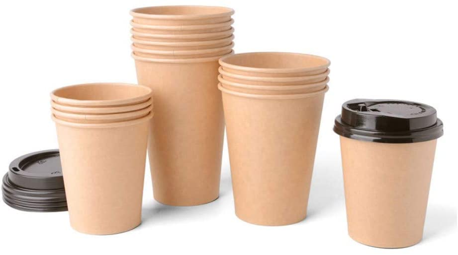 Disposable Coffee Cups 50 Packs, 12 Ozs Fully Insulated Double Walled Paper Cups Office Home Parties Travel