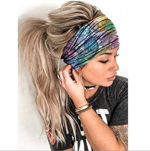 Headband, Women Solid Color Headband Elastic Head Wrap Hair Band Bandana, Clothes Accessories HotSales D One Size