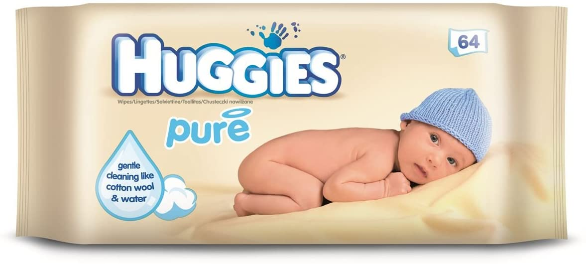 Huggies - Pure Baby Wipes 64 Pack