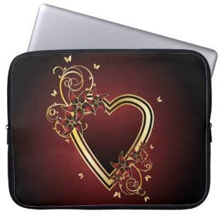 Classic Heart Laptop Sleeve Bag Notebook Computer PC Neoprene Protection Zipper Case Cover 13 Inch