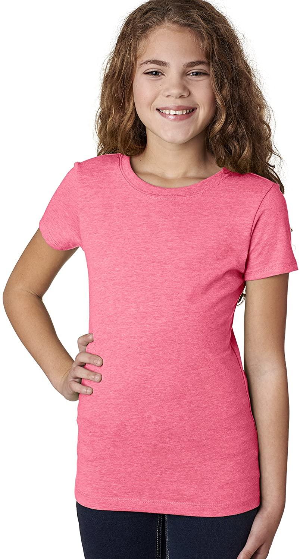 Next Level The Princess Supersoft CVC Jersey T-Shirt, Neon Hthr Pink, X-Large