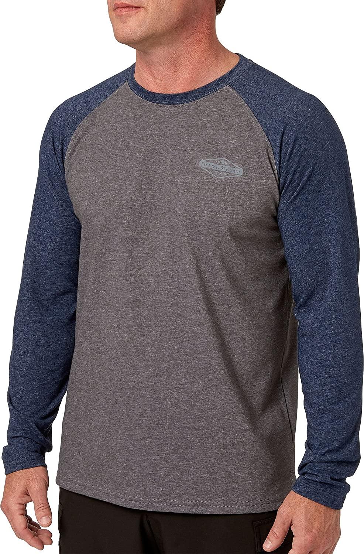 Field & Stream Men's Deep Runner Long Sleeve Raglan Tee (University Navy/Charcoal, XXL)