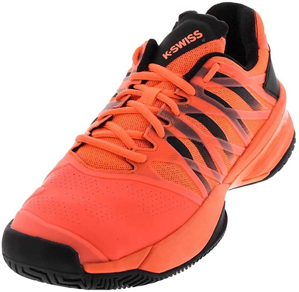 K-Swiss Men`s Ultrashot Tennis Shoes Neon Blaze and Black Size 7 (7)