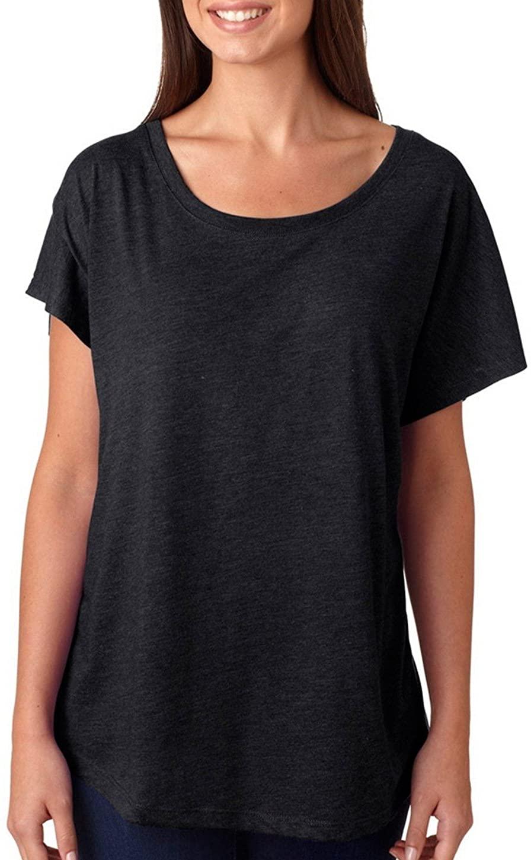 Next Level Women's Preshrunk Tri-Blend Dolman Fashion Jersey_3XL_Vintage Black
