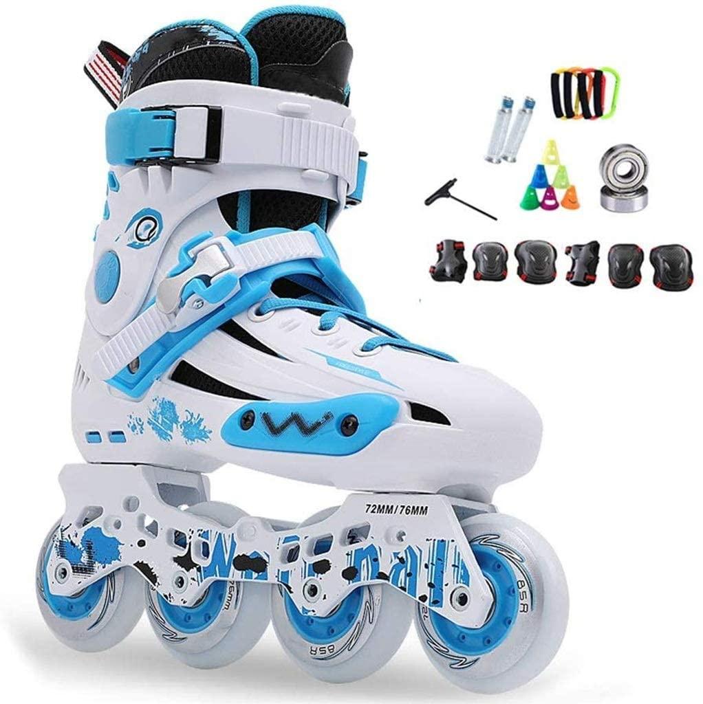QL Inline Skates Professional Slalom Adult Roller Skating Shoes Sliding Free Skate Patins Size 35-44 Good As Sneakers,3 Colors (Color : Blue, Size : EU 42/US 9/UK8/JP 26cm)