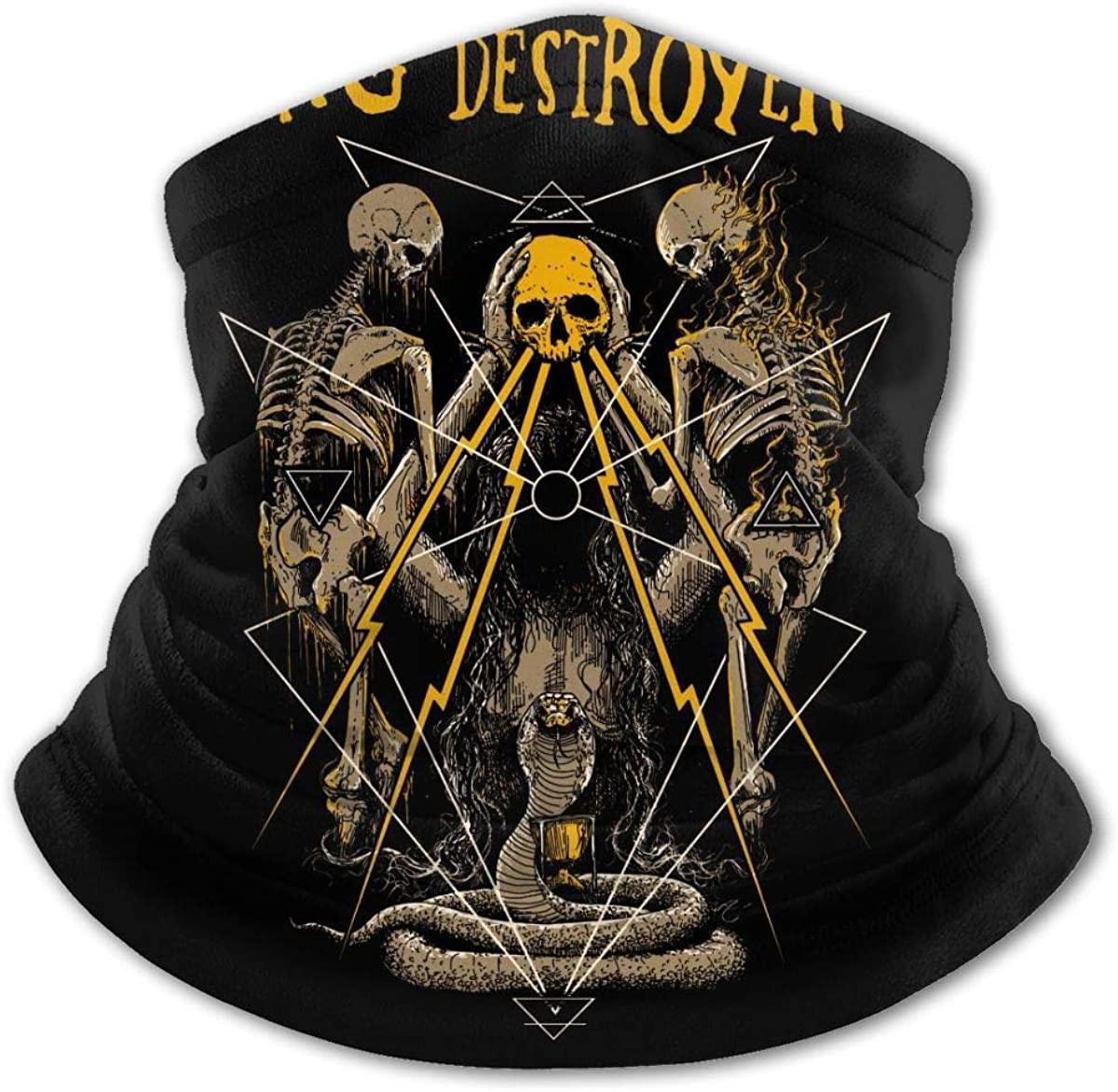 Pig Destroyer Face Mask Balaclava Protection from Dust, Uv & Aerosols - Reusable Bandana Face Cover Black