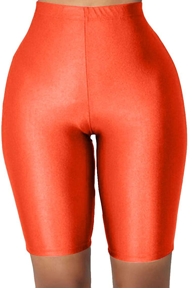 YMING Women's Active Yoga Shorts High Waist Bike Shorts Multicolor