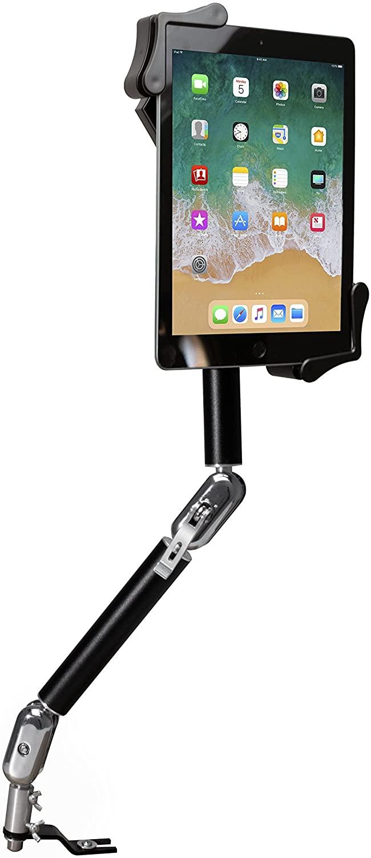 CTA Digital: Multi-Flex, Rotating Tablet Holder, No-Drill Seat Rail Mount for iPad 10.2-Inch (7th Gen.), iPad Air 3, 12.9-Inch iPad Pro, 11-Inch iPad Pro, iPad Gen 6, Galaxy Tab S3 & More, Black