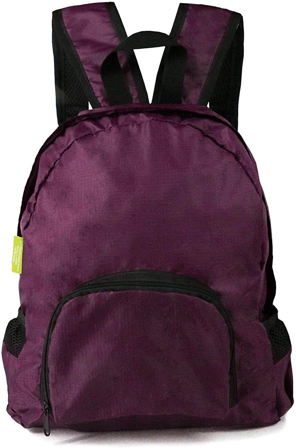 BeeGreen Foldable Hiking Daypack with Front Zipper Pocket Lightweight Packable Backpack Water Resistant Sturdy for Men & Women Burgundy