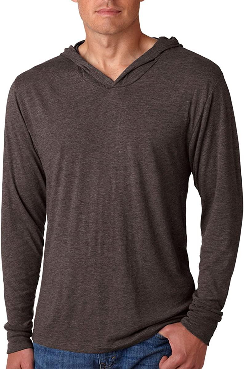 Next Level Apparel Tri-Blend Extreme Soft Rib Knit Hoodie, MACCHIATO, Medium