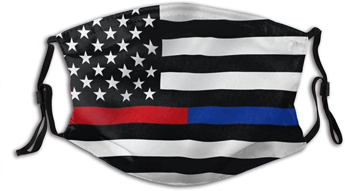 Thin Blue Line and Red Line USA Flag Honoring Law Enforcement Officers and Firefighter Flags