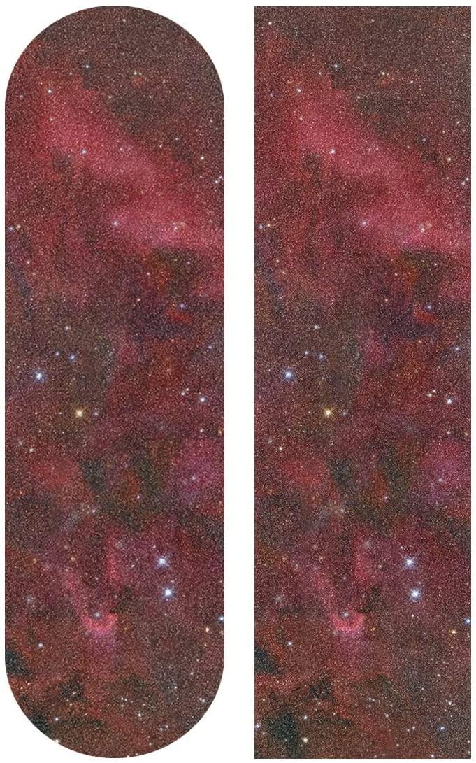 KLL Red Galaxy Skateboard Grip Tape 9