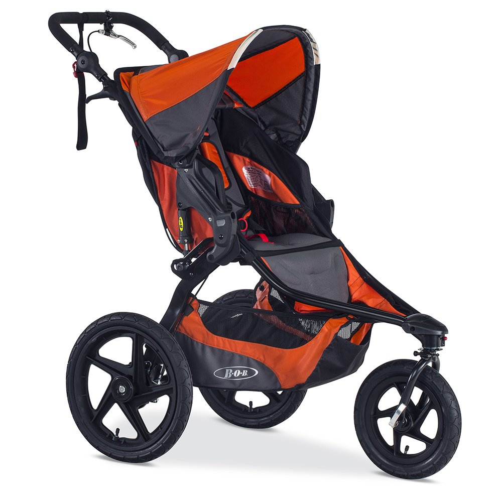 BOB Revolution PRO Jogging Stroller - Up to 75 Pounds - UPF 50+ Canopy - Easy Fold - Adjustable Handlebar with Hand Brake, Canyon