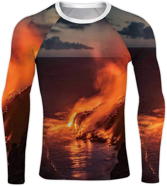 Siamese Fighting Fish,Compression Baselayer Tops Long Sleeve T-Shirts Betta splendens Isolated Aquarium S