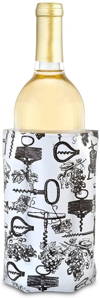 Epic Products Antique Corkscrews Wine Chill Bottle Cooler, Multicolor