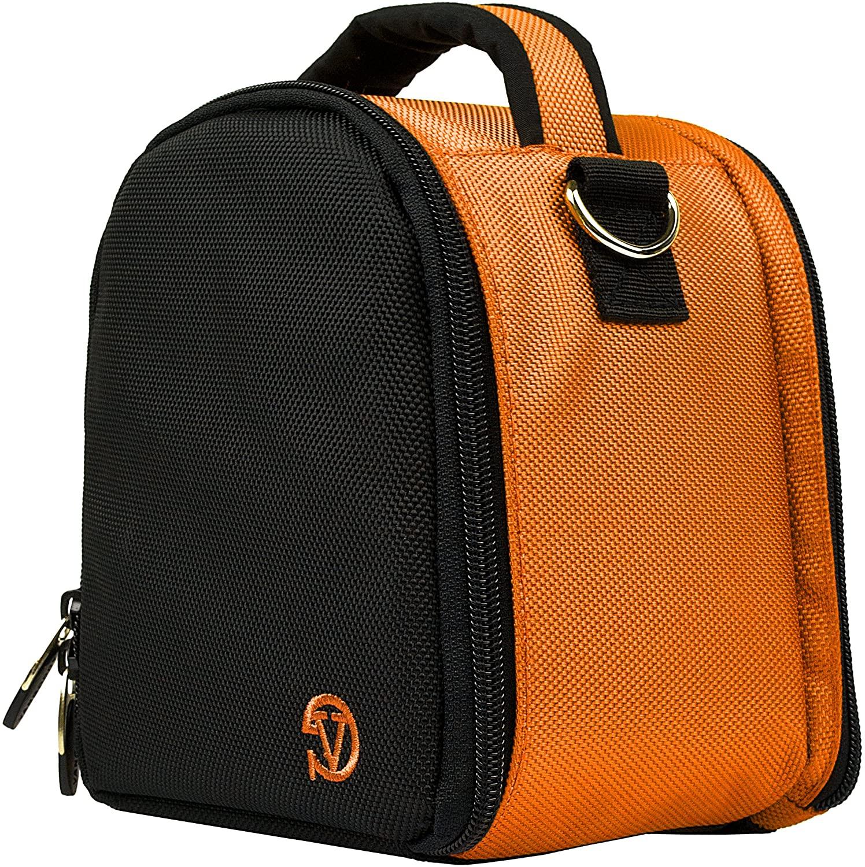 Versatile Orange Photographic Case Removable Handbag Nylon Bag for Canon EOS PowerShot VIXIA SLR DSLR Series