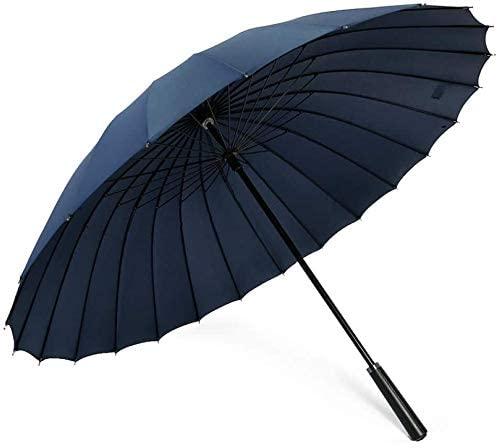 ASDF Golf Umbrellas Men's 24 Bone Long Handle Umbrella Large DoubleSuper Large Anti-Storm Three Black Straight Handle Windproof Business Men