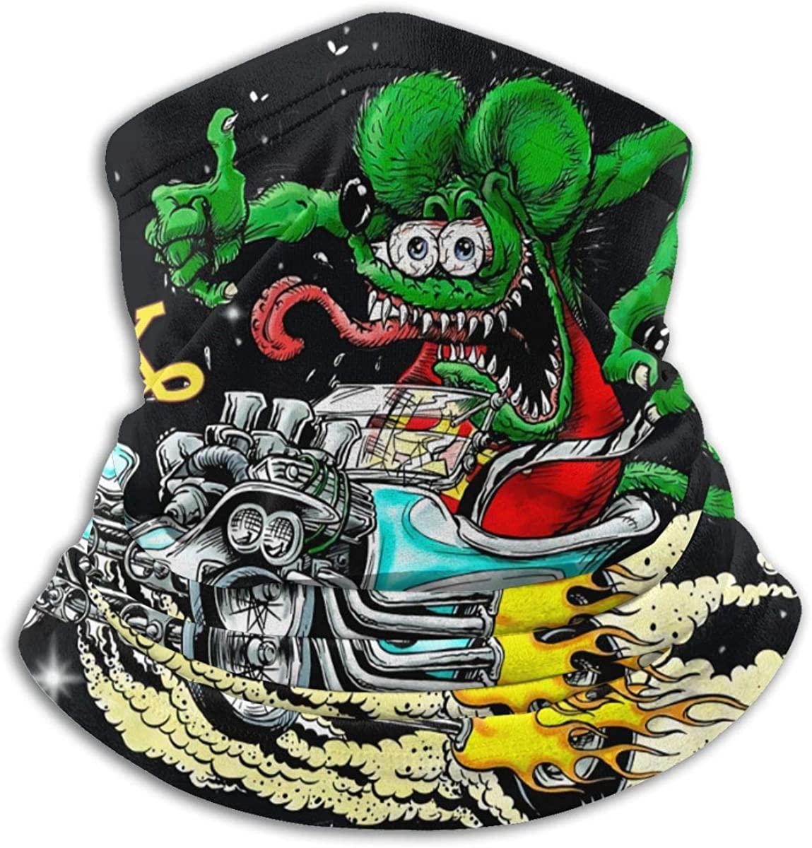 JUDE NICHOLLS Rat Fink Face Cover Shield Neck Warmer Neck Scarf Multifunctional Headband Headwear Headwrap Balaclava Elastic Mouth Shields Unisex Windproof Breathable Reusable Anti Dust